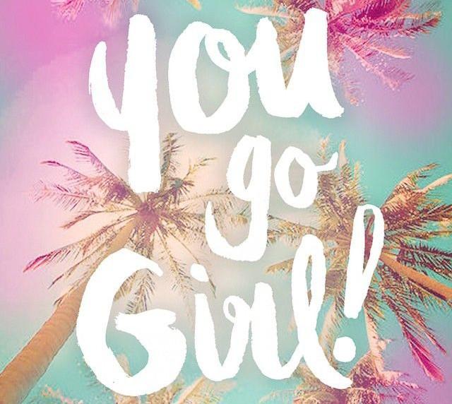 You Go Girl Pink Blue Image