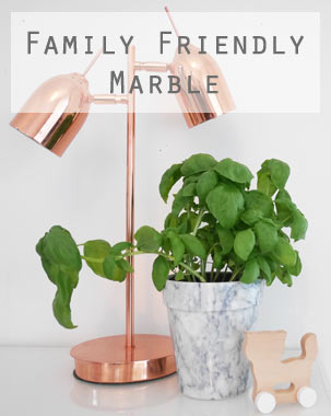 Interior Trend: Family Friendly Marble