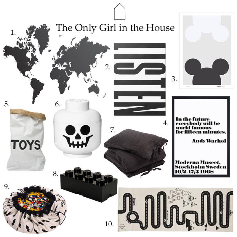 Monochrome Kids Room: Get The Look