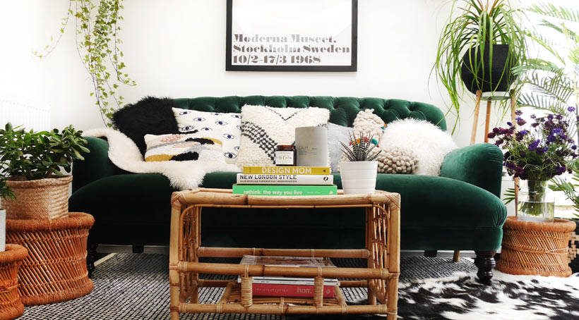 Green Velvet Sofa of Dreams | My DFS Bailey Sofa