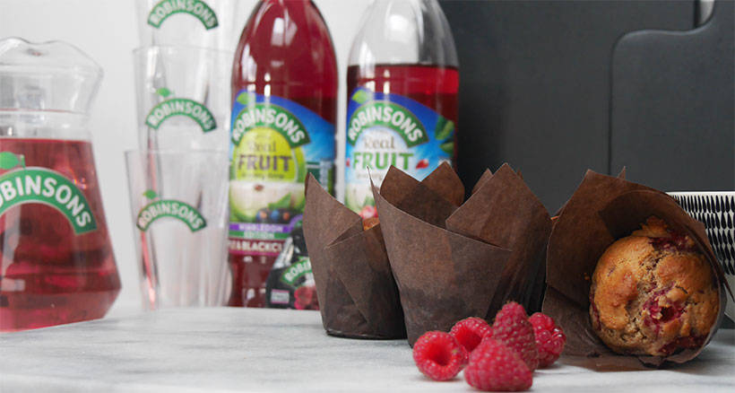 Pick It and Eat It – Sugar Free Raspberry Muffins   With Robinsons #Ad